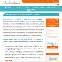 business research services outsourcing