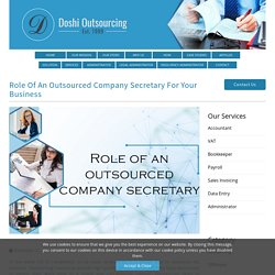 Outsourced Company Secretary Services