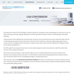 Outsource CAD Conversion Services, CAD Drafting Company