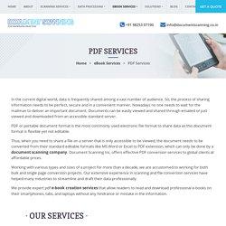 Outsource PDF Conversion Services, PDF Ebook Creation Solution