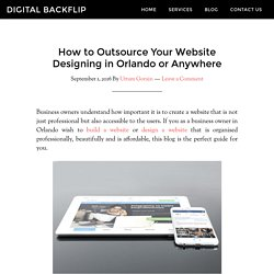 How to Outsource Your Website Designing in Orlando or Anywhere