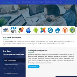 Outsource Full Stack Developers Company - Silicon Valley