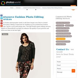 Outsource Fashion Photo Editing