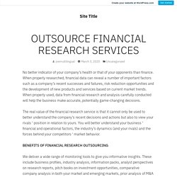 financial research outsourcing