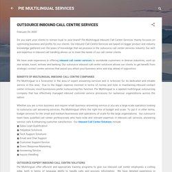 Inbound Call Center outsourcing India