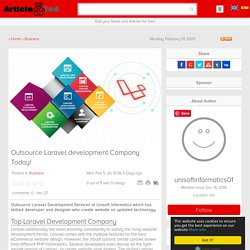 Foremost and affordable Laravel Development Company