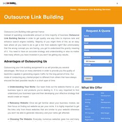 Outsource SEO Link Building Services India