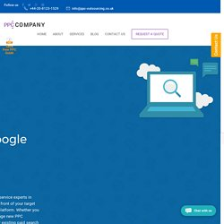 Outsource Google AdWords, PPC Management Services Agency in UK