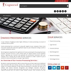 Outsource Invoice processing Services - Cogneesol