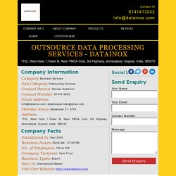 Outsource Data Processing Services - Datainox