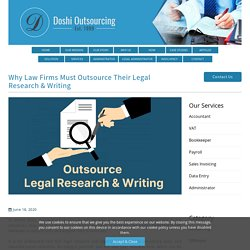 Outsourcing Legal Services To India