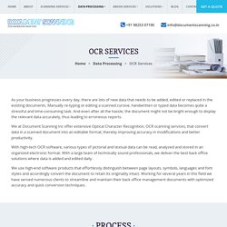 Outsource OCR Scanning Services, OCR Conversion Services