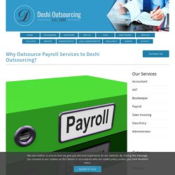 Outsourcing Payroll Services to Doshi Outsourcing