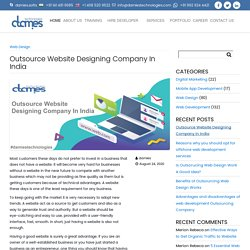 Outsource Website Designing Company In India