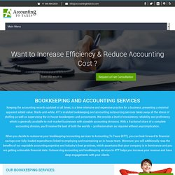 Affordable Outsourced Bookkeeping Services - Accounting To Taxes