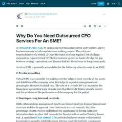Why Do You Need Outsourced CFO Services For An SME?