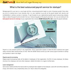What is the best outsourced payroll service for startups?