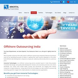 Offshore Outsourching- Immortals Technologies Pvt Ltd