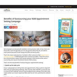 Benefits of Outsourcing your B2B Appointment Setting Campaign