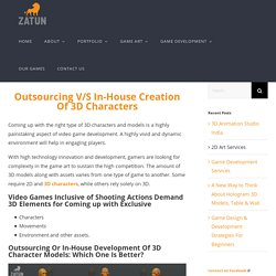 Outsourcing v/s In-House Creation Of 3D Characters