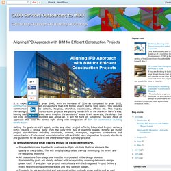 Efficient Construction Projects - Aligning IPD Approach with BIM