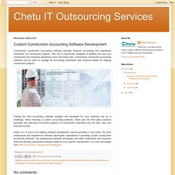 Chetu IT Outsourcing Services: Custom Construction Accounting Software Development