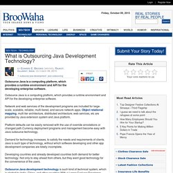 What is Outsourcing Java Development Technology?