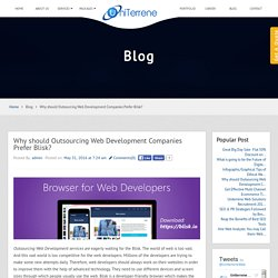 Why should Outsourcing Web Development Companies Prefer Blisk?