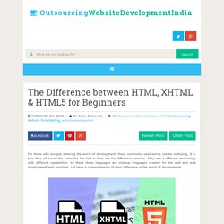The Difference between HTML, XHTML & HTML5 for Beginners