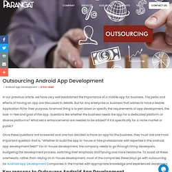 Outsourcing Android App Development