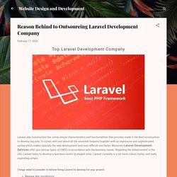 Opt out ultimate Laravel Development Company
