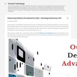 Outsourcing Software Development to India - Advantages Businesses Get