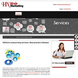 Outsourcing Services Company - Web Design, Developmet, App, Dataentry