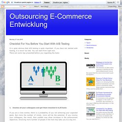 Outsourcing E-Commerce Entwicklung: Checklist For You Before You Start With A/B Testing