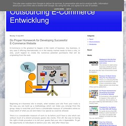 Outsourcing E-Commerce Entwicklung: Do Proper Homework for Developing Successful E-Commerce Website