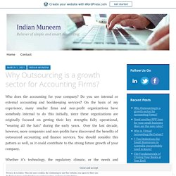Why Outsourcing is a growth sector for Accounting Firms?