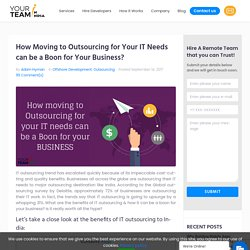 How IT Outsourcing can Help you Grow your Business?