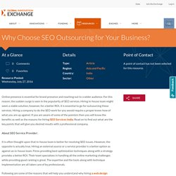 Why Choose SEO Outsourcing for Your Business? Resources