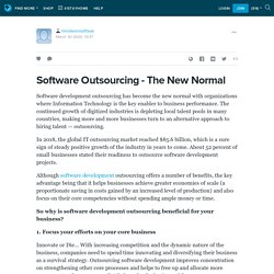 Software Outsourcing - The New Normal: mindworxsoftwar — LiveJournal