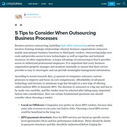 5 Tips to Consider When Outsourcing Business Processes: mosdataentry