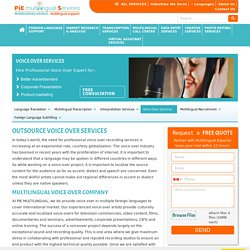 Multilingual Voice Over Services