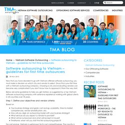 Software outsourcing to Vietnam – guidelines for first time outsourcers