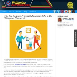 Why Are Business Process Outsourcing Jobs in the Philippines Number 1?