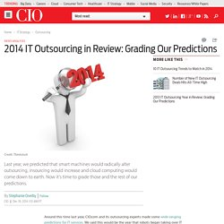 2014 IT Outsourcing in Review: Grading Our Predictions