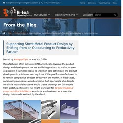 Supporting Sheet Metal Product Design by Shifting from an Outsourcing to Productivity Partner
