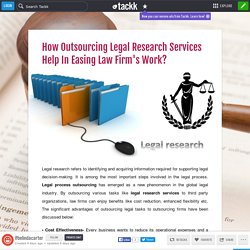 How Outsourcing Legal Research Services Help In Easing Law Firm's Work?