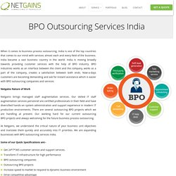 BPO Outsourcing Services Company India