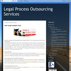Legal Process Outsourcing Services: December 2015