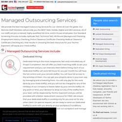 Managed Outsourcing Services with dedicated remote staff