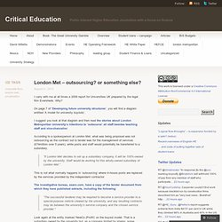 London Met – outsourcing? or something else? « Critical Education